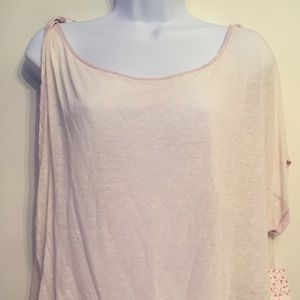 NWT Free People Pluto One-Shoulder Lavender Tee